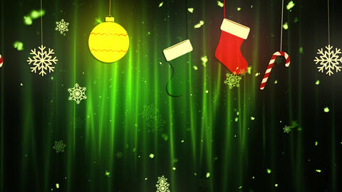 Christmas Cloth Ornaments 1 CG動画素材