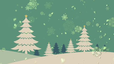Christmas Landscape 1 Stock Video Footage