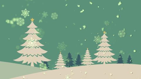 Christmas Landscape 1 stock footage