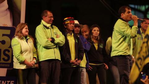Rafael Correa Speech Part 12 stock footage