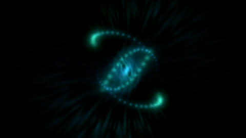 Rotation aura light and flying particles,spiral,focus,dna,particle,symbol,vision,idea,creativity,vj Animation