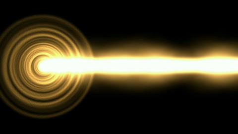 Flashing golden circle pulse and white... Stock Video Footage
