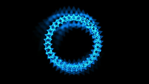 blue stars made up of aura Animation