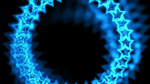 blue stars made up of aura Stock Video Footage