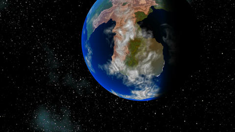 Planet similar to Earth Stock Video Footage