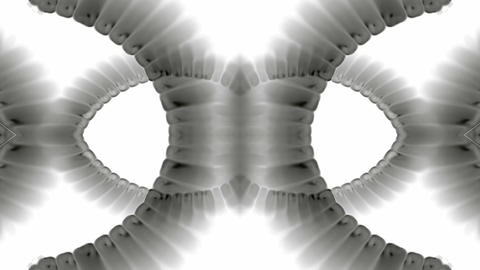 swirl smoke chain stripe ribbon,hairy curve,spiral DNA strand,alien tail body Animation