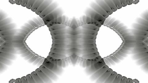 swirl smoke chain stripe ribbon,hairy curve,spiral DNA... Stock Video Footage