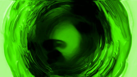rotate deep green tunnel hole,light wire,cosmos swirl... Stock Video Footage
