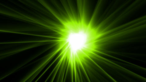green rays laser and fire in super space,dazzling god... Stock Video Footage