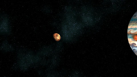 Two planets in space chasm Stock Video Footage