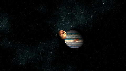 Two planets in space chasm Animation