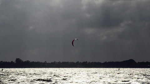 Kitesurfers in action Footage