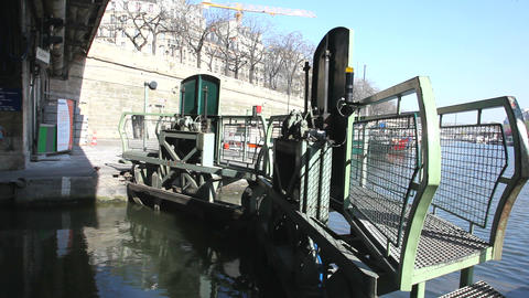 A lock at San Martin canals Stock Video Footage