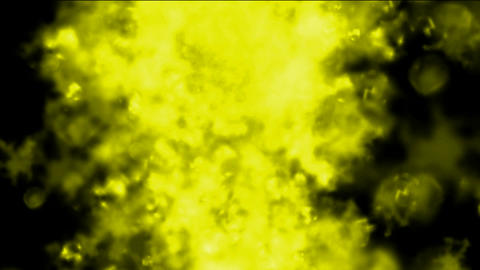 yellow smoke and steam in space,ghost ink Animation
