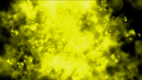 yellow smoke and steam in space,ghost ink Stock Video Footage