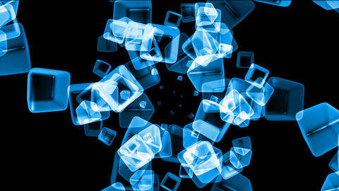 ice block,crystal jewelry necklace,flying glass boxes and... Stock Video Footage