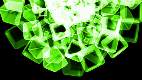 green ice block,crystal jewelry necklace,flying glass... Stock Video Footage