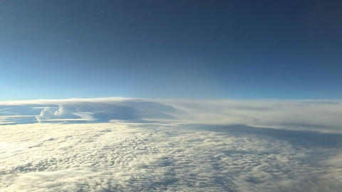 Sea of clouds from Airplane,Okinawa,Japan Stock Video Footage