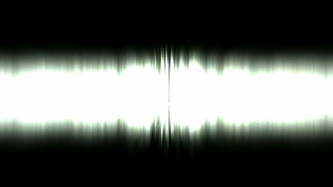 Static waveform degraded,dazzling white noise rays light in space,audio rhythm Animation