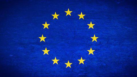 Painting flag on the wall - EU Stock Video Footage