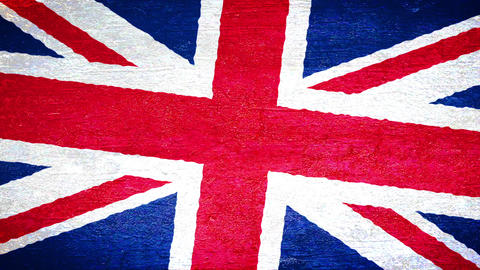 Painting flag on the wall - UK Stock Video Footage