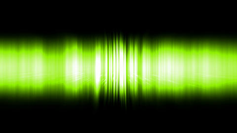 dazzling green noise rays light in space,audio... Stock Video Footage