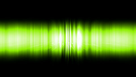 dazzling green noise rays light in space,audio rhythm,static waveform degraded Animation