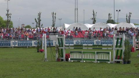 horse race jump 32 Stock Video Footage