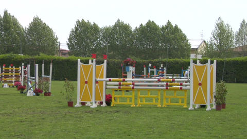 horse race jump 41 Stock Video Footage