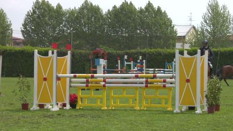 horse race jump 43 Stock Video Footage