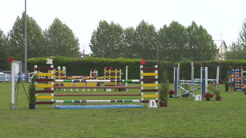 horse race jump 93 Stock Video Footage