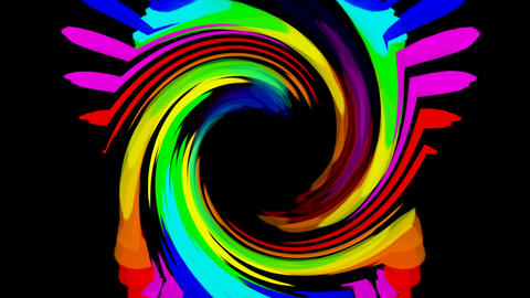swirl color streak and rays laser light shaped hole,flame... Stock Video Footage