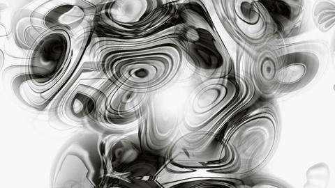 watercolor style of black flow circle ink liquid,abstract art ripple and stripes background Animation
