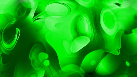 abstract circle curve background,green ripple in flow viscous liquid Animation