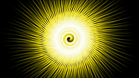 swirl yellow fiber optic lines shaped hole tunnel & ripple pulse,rotation energy blackhole halo fiel Animation