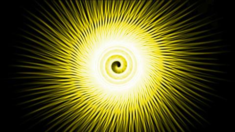 swirl yellow fiber optic lines shaped hole tunnel &... Stock Video Footage