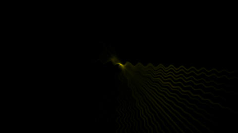 yellow fiber optic wave shaped hole tunnel & ripple... Stock Video Footage