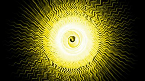 yellow fiber optic wave shaped hole tunnel & ripple... Stock Video Footage