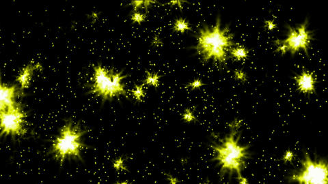 shine yellow fireworks and particles in night sky,wedding... Stock Video Footage