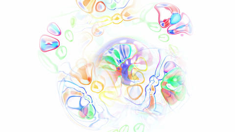 abstract flow color water drop and bubble underwater,ripple and stripes background Animation