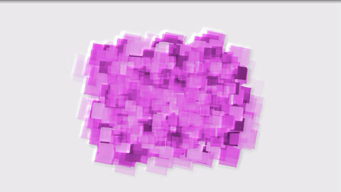 watercolor square mosaic papers and debris background Animation
