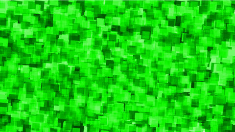 green watercolor square mosaic papers and debris background Stock Video Footage