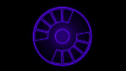 scan system or game interface,rotation circular.turbines,radar,mind,Led,neon lights,modern,stylish,d Animation