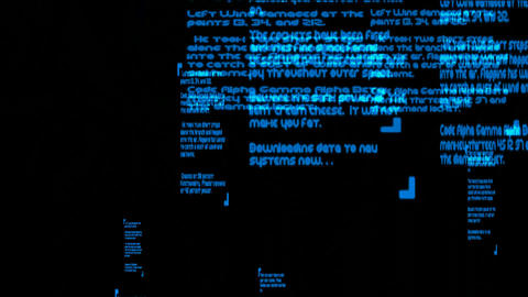 Dos system,character,words,computer... Stock Video Footage
