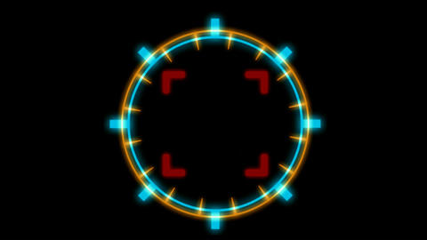 computer game interface.clocks,pointers,particle,Led,cans,Design,pattern,neon lights,modern,stylish Animation