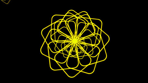 Rotating yellow flower... Stock Video Footage