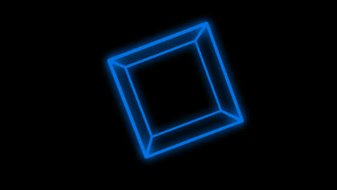 3d blue cube Stock Video Footage