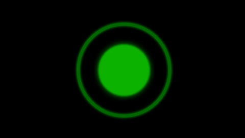 green flicker circle background Stock Video Footage