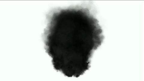 Black smoke in white background,seamless... Stock Video Footage