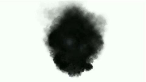 Black smoke in white background,seamless loop,def.disaster,particle,material,flame,symbol,vision,ide Animation